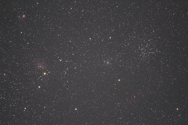 ぎょしゃ座の散開星団M38付近(FLT98CF・EOS60Da・ISO1600, 300sec.)
