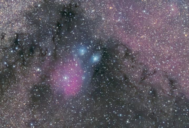 バンビの首飾りと、周辺の暗黒星雲