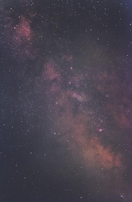 光害地(加古川市内)から撮影した、いて座付近の天の川