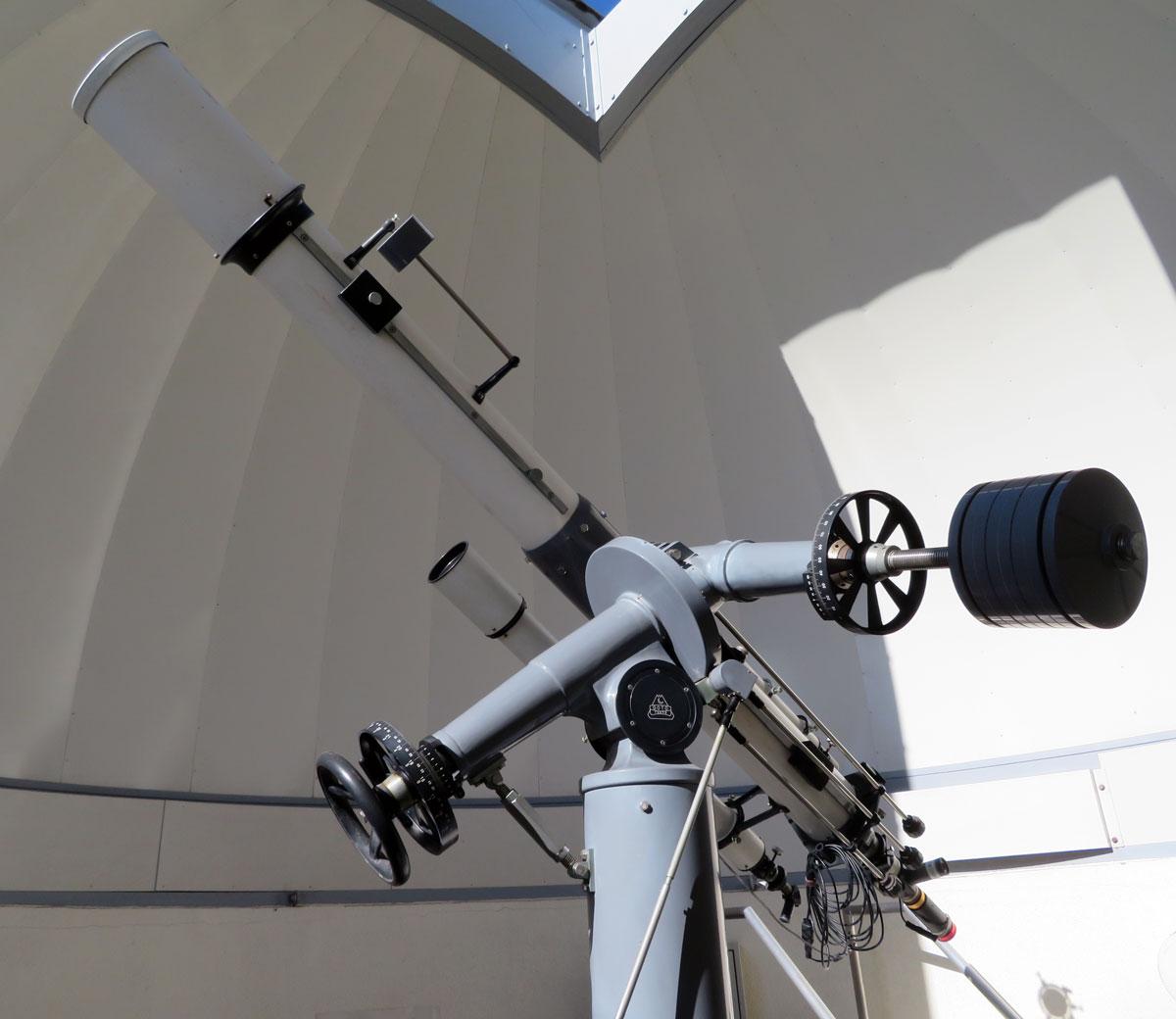 岡山天文博物館 1F 太陽観測望遠鏡