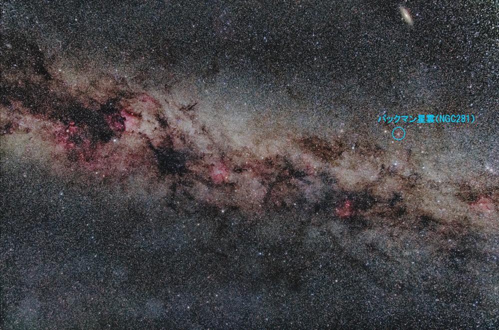 パックマン星雲(NGC281)の位置