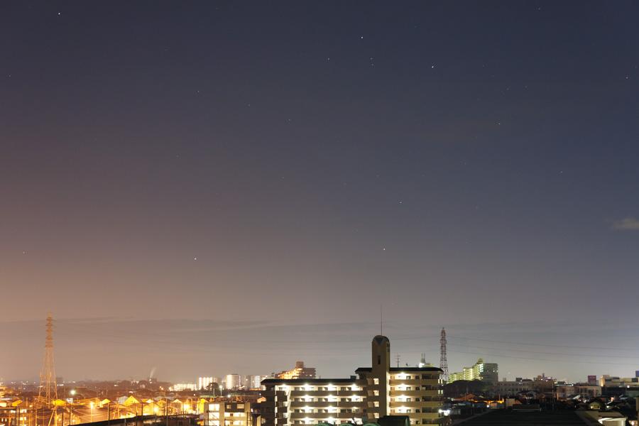 2011/12/28朝の水星とアンタレス