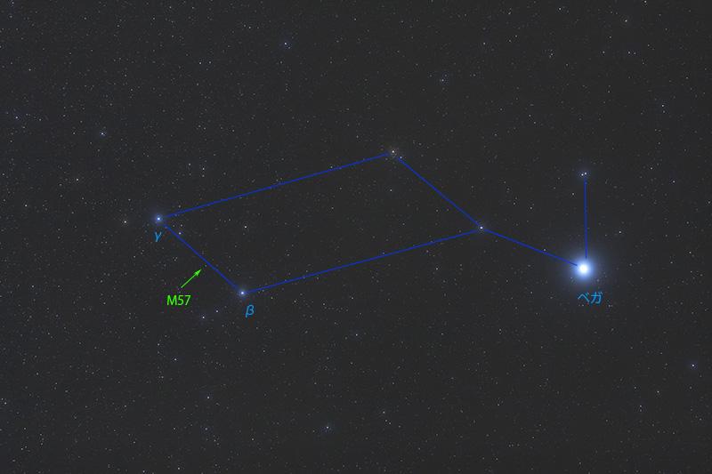 こと座のリング星雲(M57)の見つけ方