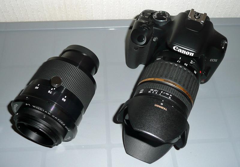 Flattener4とカメラの大きさ比較