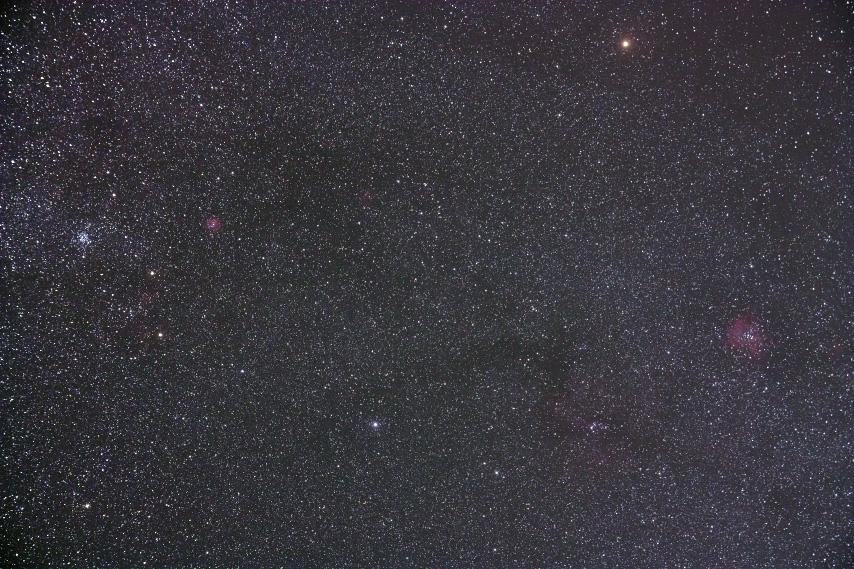 M35~バラ星雲付近の星野