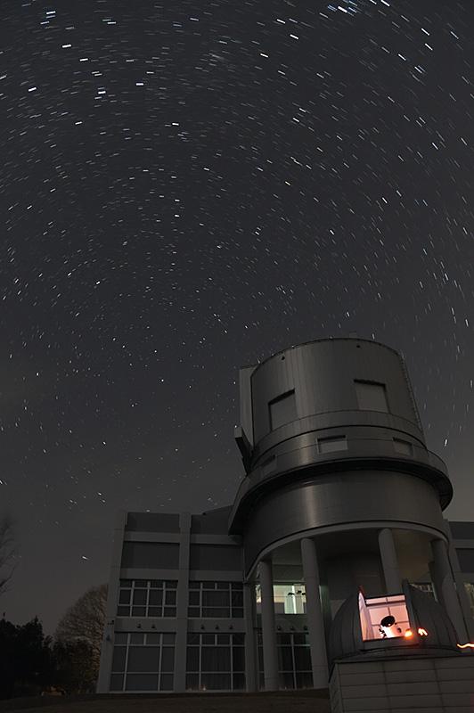 西はりま天文台と北天の日周運動