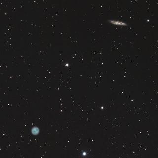 M97(ふくろう星雲)とM108