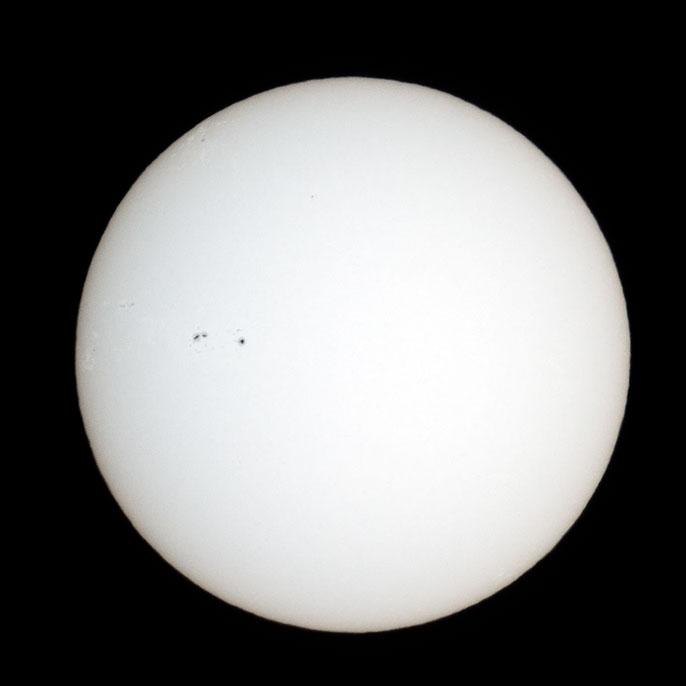 2011/3/26 10:01の太陽面