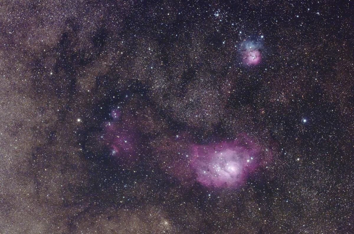三裂星雲・干潟星雲・猫の手