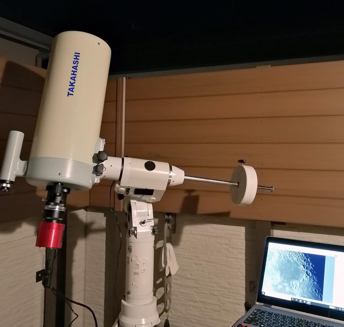 ミューロン180Cとμフラットナーレデューサー、ASI183MC Proによる撮影
