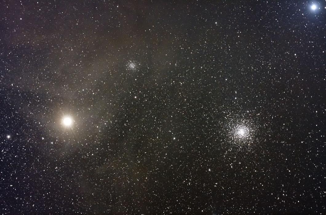 アンタレスと球状星団M4