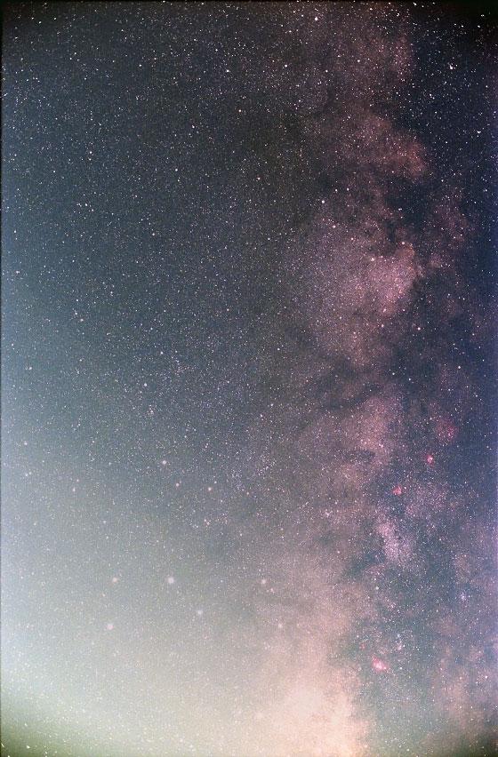 銀塩フィルムによる夏の天の川