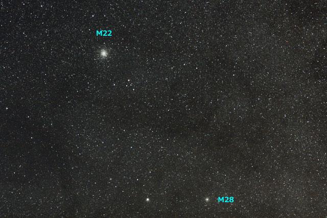 球状星団 M22&M28