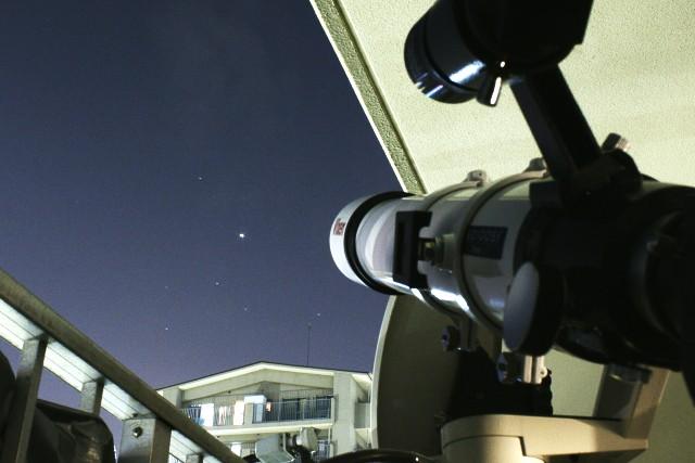 自宅からの木星と南斗六星
