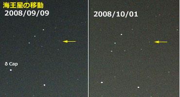 海王星の移動