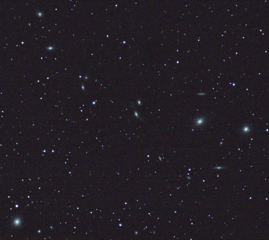 マルカリアンの銀河鎖(おとめ座銀河団)