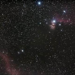 M78、馬頭星雲、燃える木