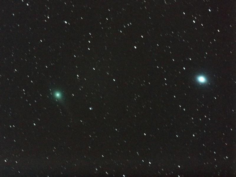 ルーリン彗星(C/2007 N3)・2009/2/17 1:56・おとめ座を通過中・光度5.4等