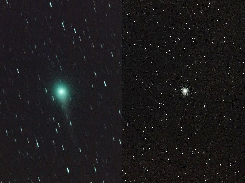 ルーリン彗星と球状星団M5