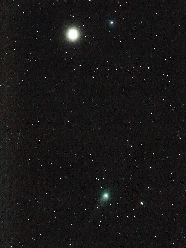 ルーリン彗星(C/2007 N3)・2009/2/23 22:59・しし座を通過中・光度5.1等