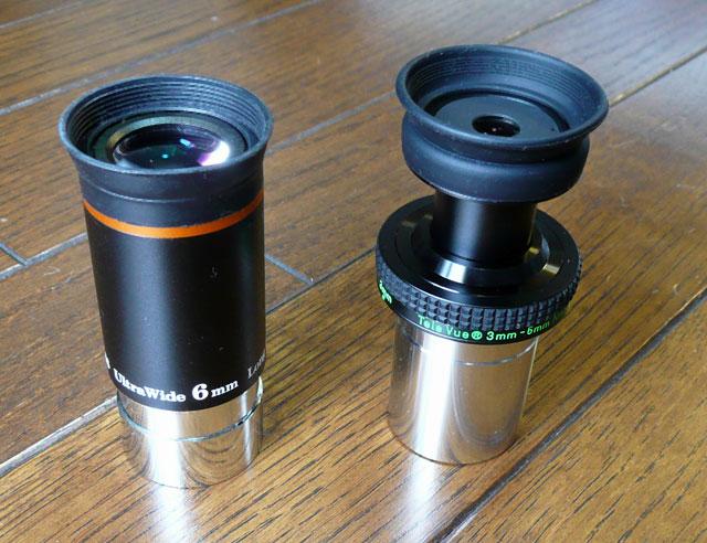 UW-6mm(左)とナグラーズーム 3-6mm(右)