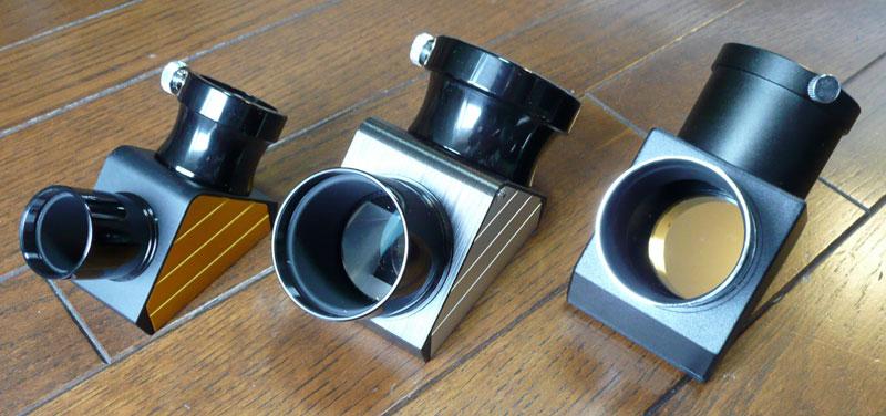 31.7mmDX天頂ミラー、2インチDX正立プリズム、SE120付属2インチミラー