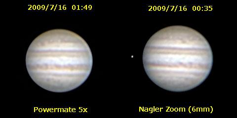 木星撮影で5x パワーメイトとナグラーズームを比較