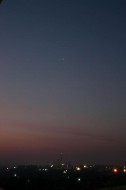 明けの明星(金星)