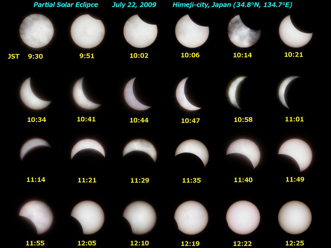 2009年7月22日の部分日食まとめ