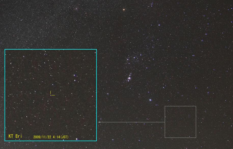 エリダヌス座の新星