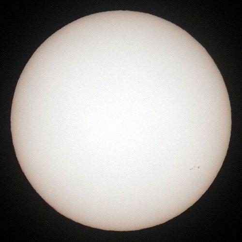 2010年1月3日の太陽面