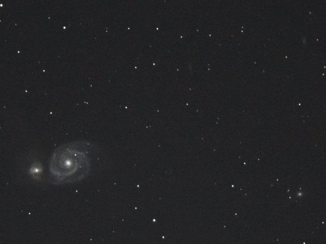 M51と周辺の銀河