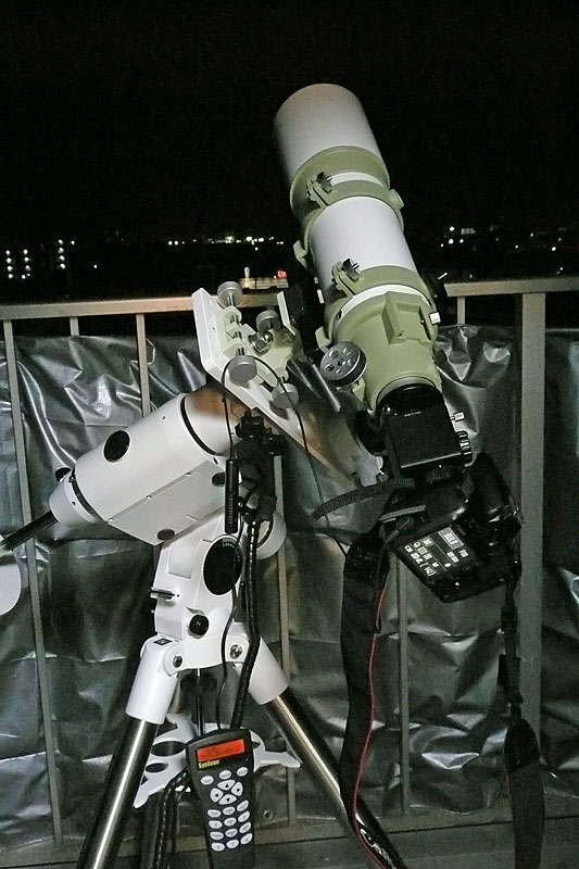 ケンコーSE102鏡筒をSE2赤道儀に搭載