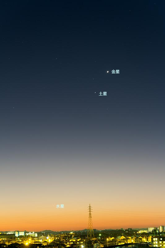 金星と土星の接近(+水星)