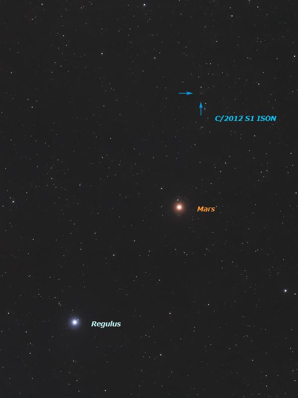 火星とレグルス