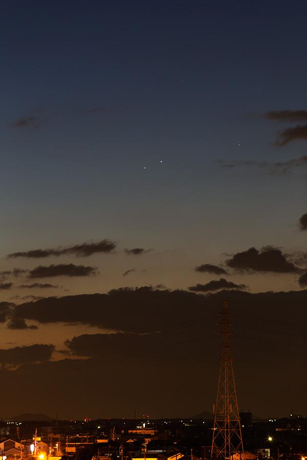 水星と土星の大接近