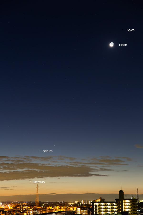 水星・土星・月・スピカ