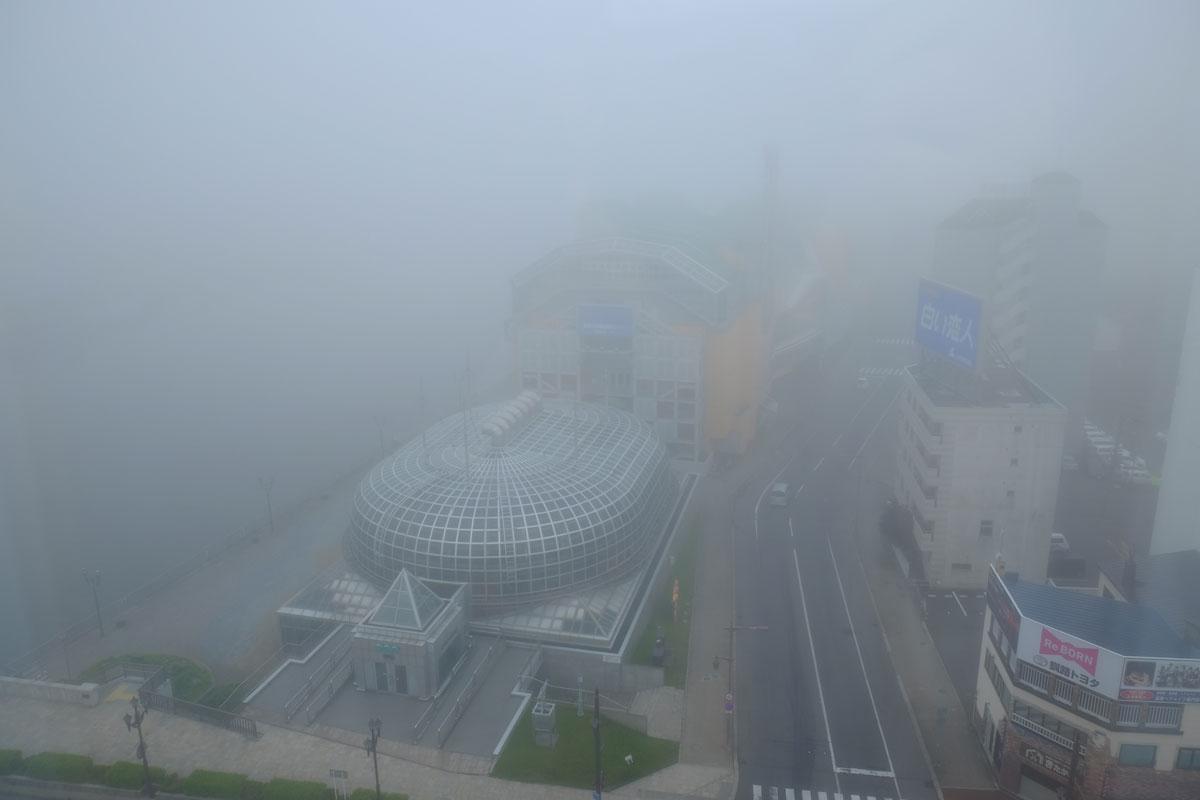 霧の釧路市内
