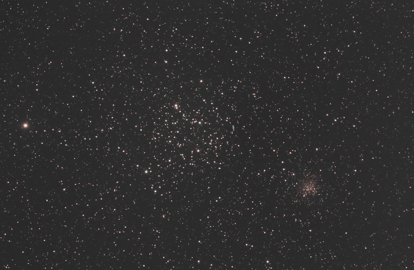 散開星団 M35 & NGC2158