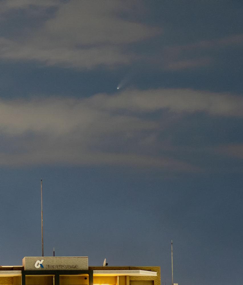 ネオワイズ彗星(C/2020F3) 2020/7/16 8:15 明石