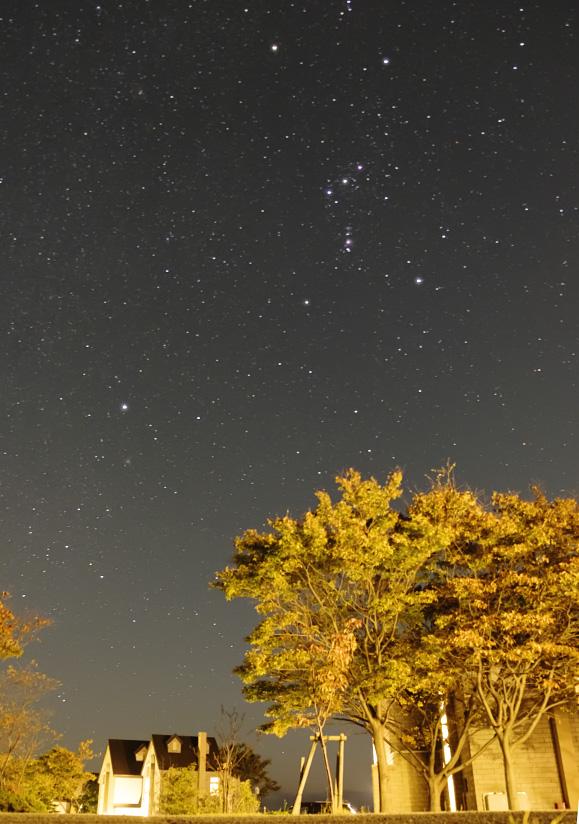 ウェスパ椿山の星空(オリオン座)