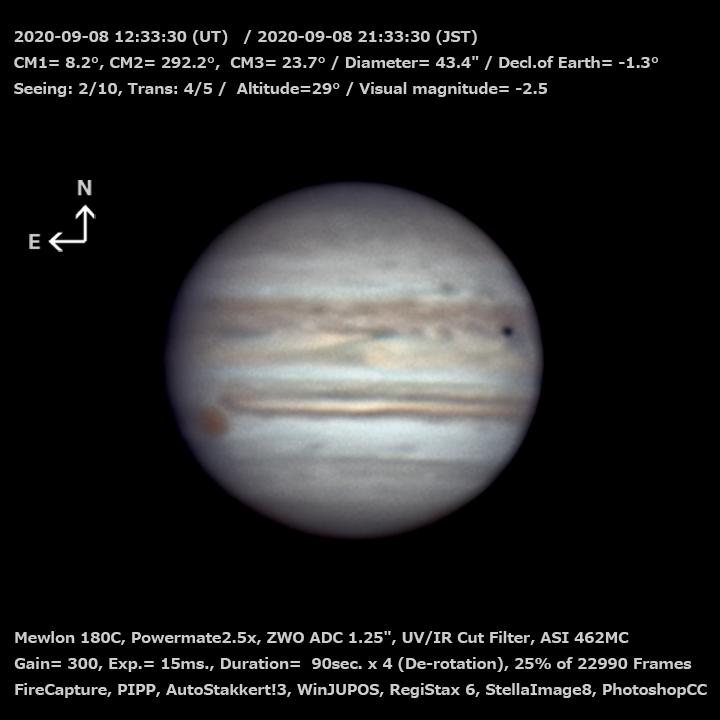 木星 2020/9/8 21:33 (JST)