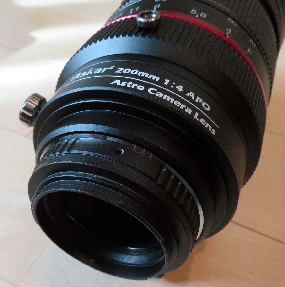 M48 カメラアダプター取り付け時