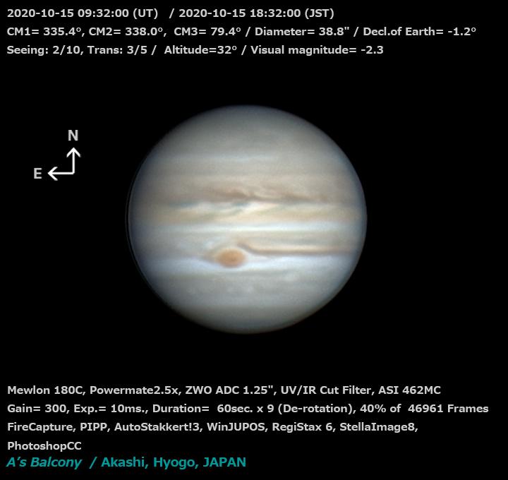 木星 2020/10/15 18:32 (JST)