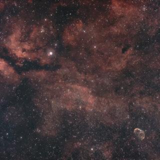 サドル~三日月星雲付近