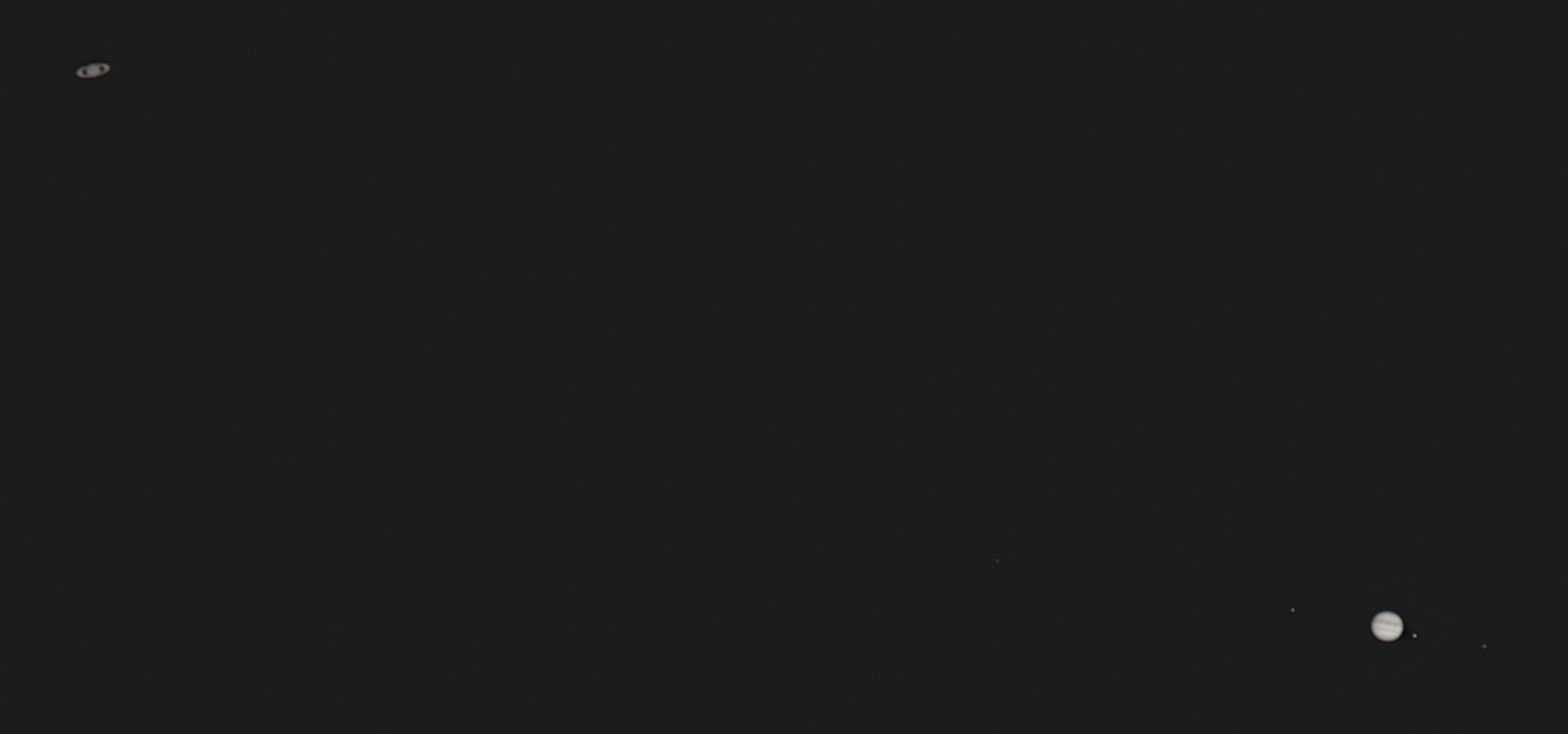 木星と土星の接近 2020/12/18 17:28 (JST)
