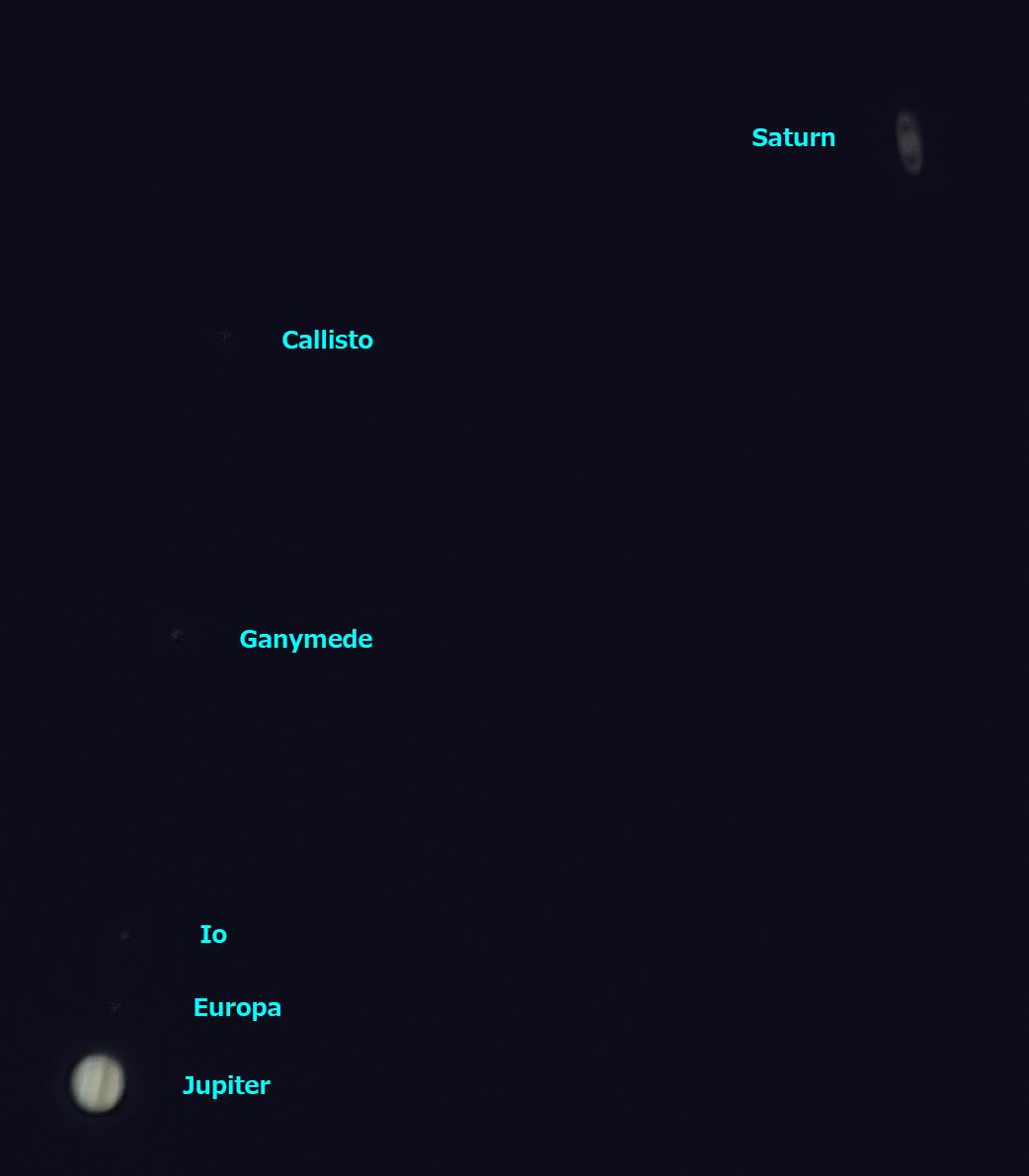 木星と土星の接近 2020/12/20 17:28 (JST)