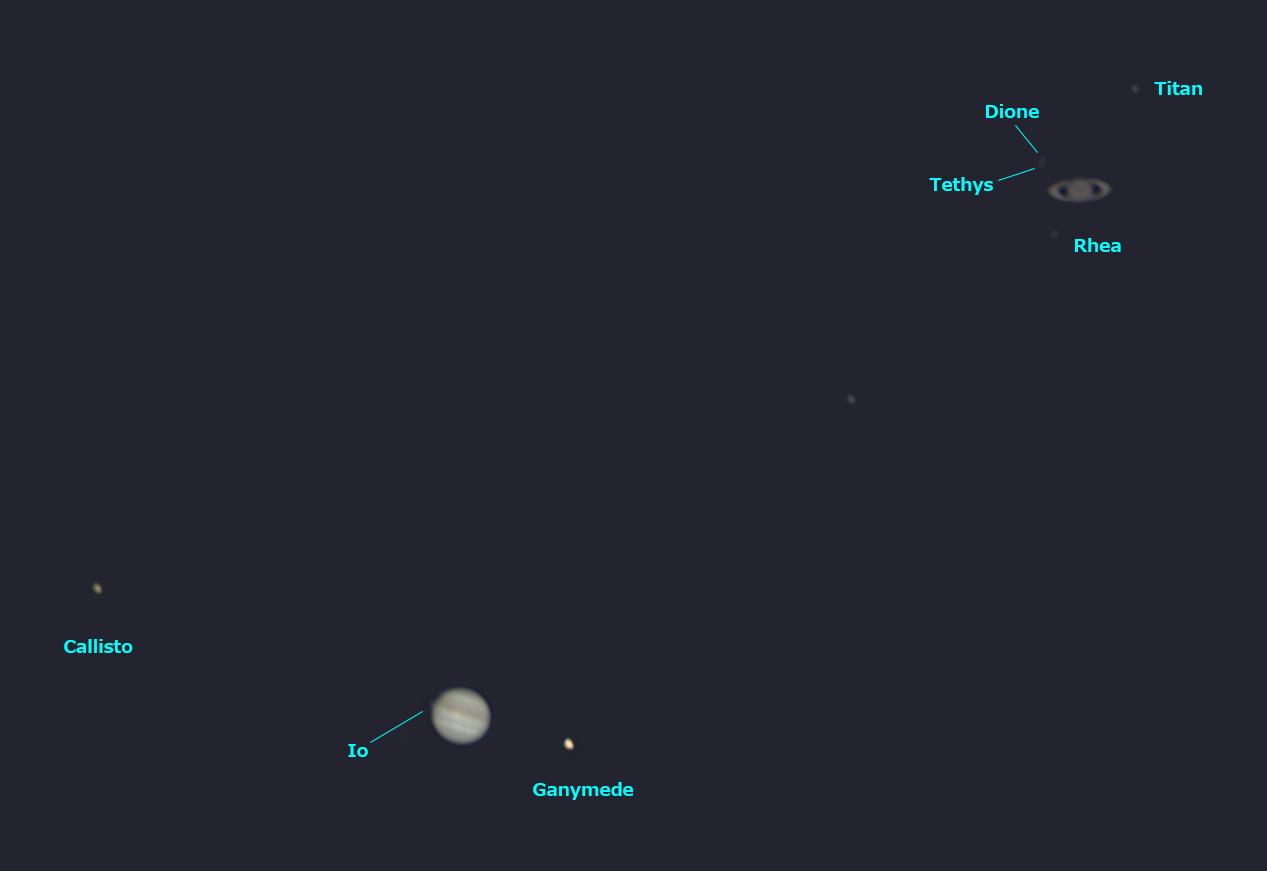 木星と土星の接近 2020/12/22 17:27 (JST)