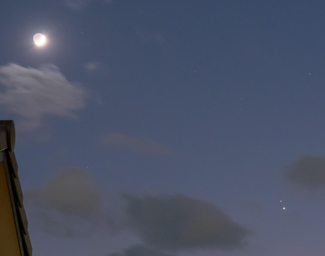 木星・土星・月(2020/12/18 17:44)
