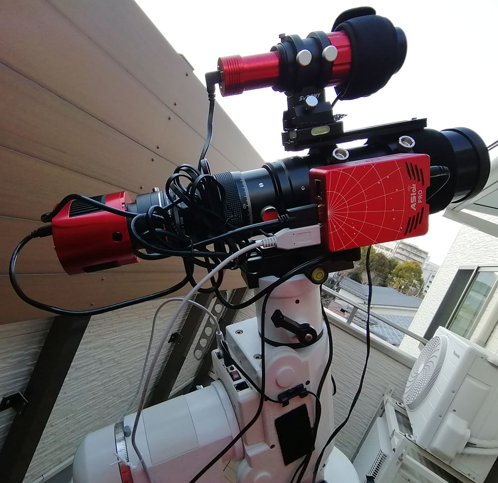 BORG71FL, ASIAIR Pro, ASI294MC Pro, ASI120MMmini, ケンコーSE2赤道儀